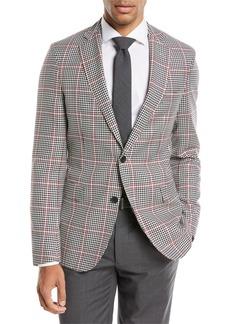 Hugo Boss Windowpane Wool Sport Coat