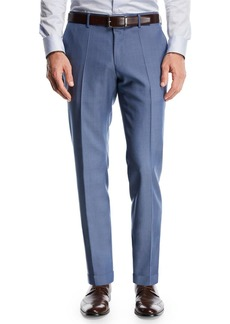 Hugo Boss Wool Flat-Front Pants