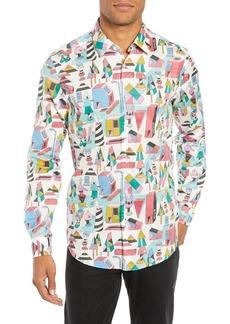 Hugo Boss BOSS x Jeremyville Lukas Regular Fit Print Shirt