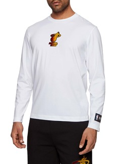 Hugo Boss BOSS x NBA Threesixty Miami Heat Long Sleeve Logo T-Shirt