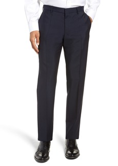 Hugo Boss BOSS x Nordstrom Ben Flat Front Solid Wool & Mohair Trousers (Nordstrom Exclusive)