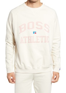Hugo Boss BOSS x Russell Athletic Stedmanra Varsity Logo Crewneck Sweatshirt