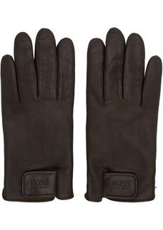 Hugo Boss Brown Helkop Gloves