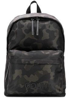 Hugo Boss camouflage backpack