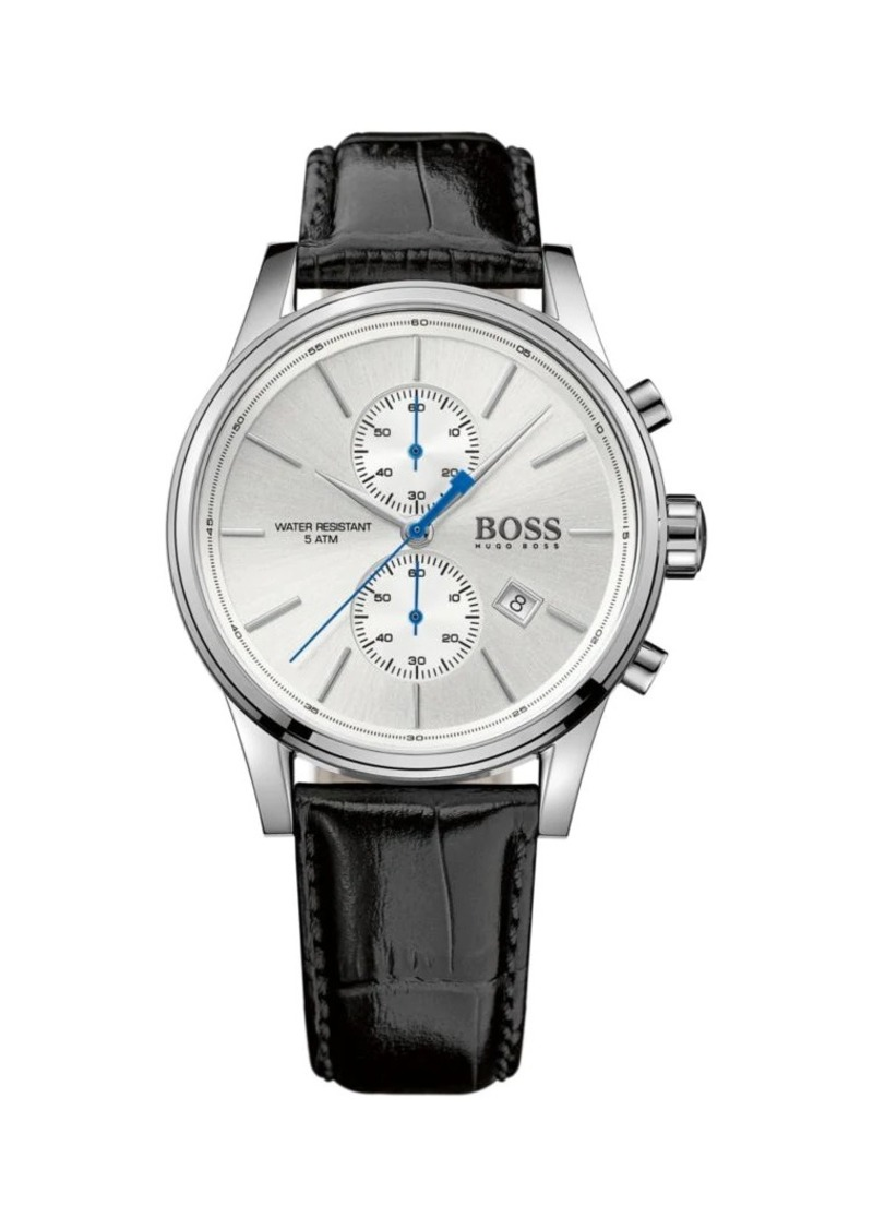 Hugo Boss Chrono Leather Band Watch