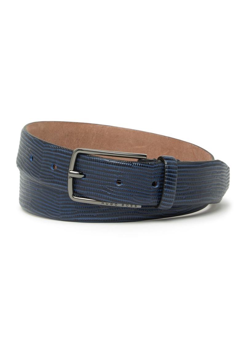 Hugo Boss Chucky Embossed Leather Belt