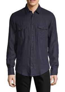 Hugo Boss Classic Linen Button-Down Shirt