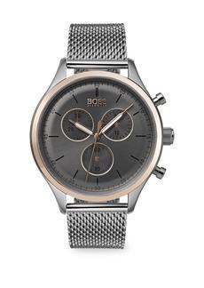 Hugo Boss Companion Stainless Steel Mesh Bracelet Watch