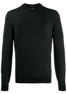Hugo Boss contrast knit jumper