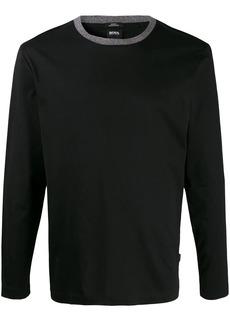 Hugo Boss contrast neck T-shirt