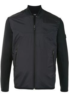 Hugo Boss contrast-panel bomber jacket