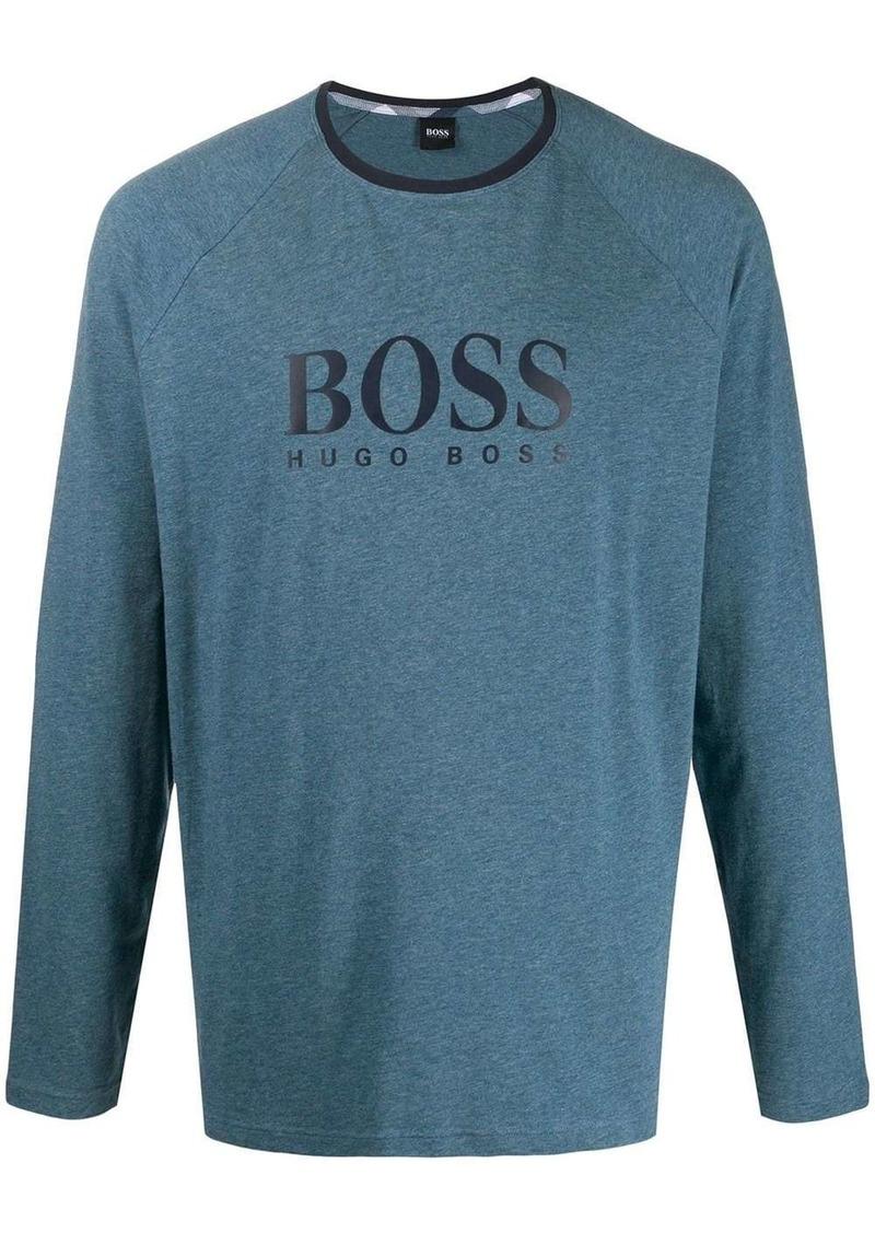 Hugo Boss contrast-panel pajama set