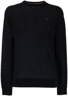Hugo Boss cotton-linen blend jumper