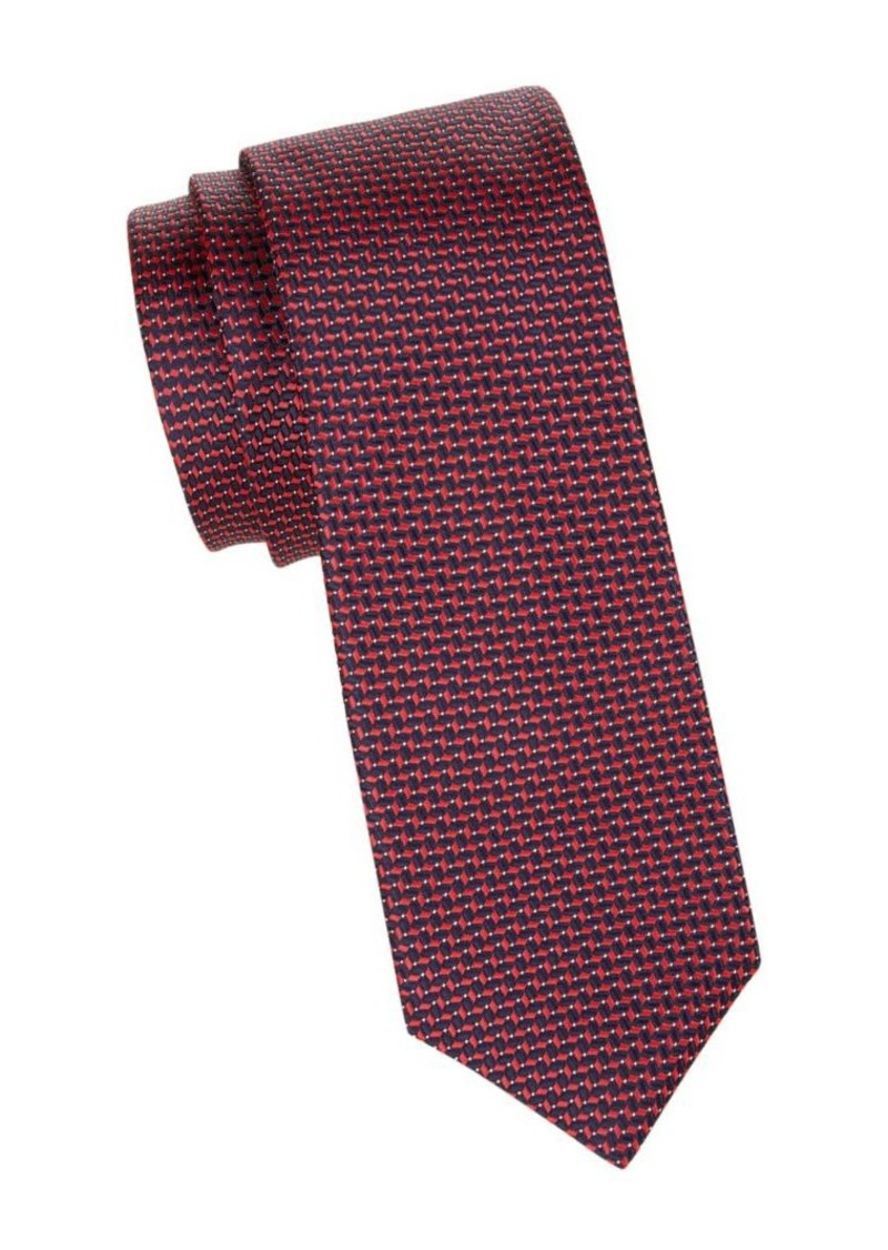 Hugo Boss Crosshatch-Print Tie