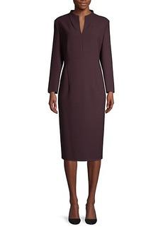 Hugo Boss Dabara Structured Pique Jersey Mockneck Dress