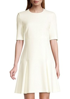 Hugo Boss Dobella Ponte Stretch Elbow Sleeve Swing Dress