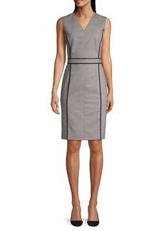 Hugo Boss Doretti Piped Wool-Blend Dress