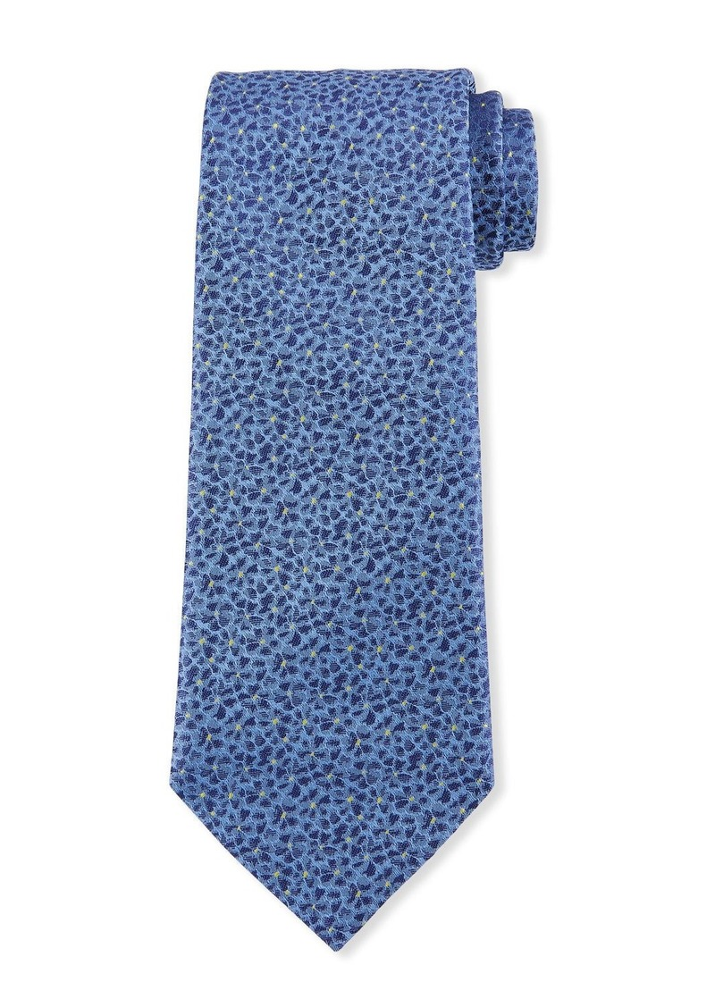 Hugo Boss Dotted Floral Silk Tie