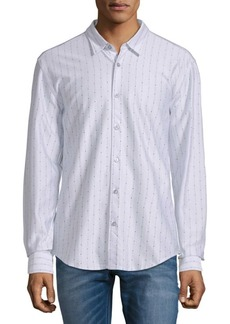 Hugo Boss Dotted Stripe Cotton Button-Down Shirt