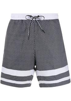 Hugo Boss drawstring beach shorts