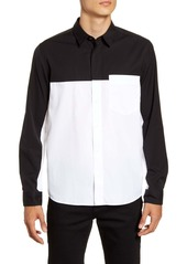 Hugo Boss Eamos Relaxed Fit Black & White Button-Up Shirt