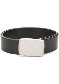 Hugo Boss embossed buckle belt
