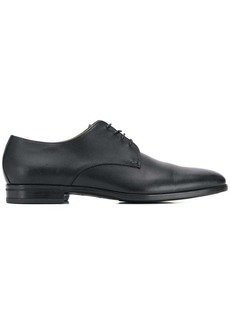Hugo Boss embossed leather derby shoes