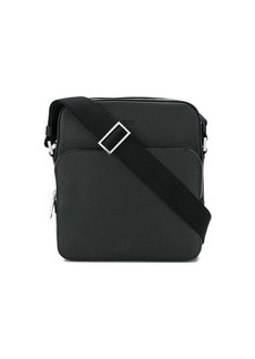 Hugo Boss embossed logo messenger bag