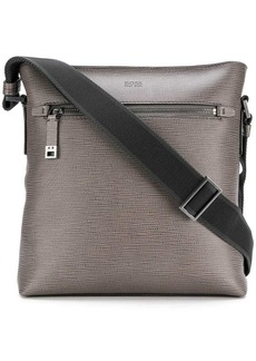 Hugo Boss embossed messenger bag
