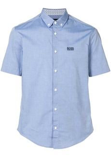 Hugo Boss embroidered logo button-down shirt