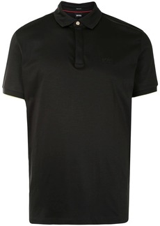 Hugo Boss embroidered-logo polo shirt