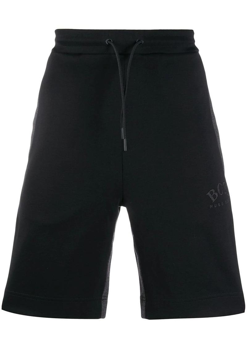 Hugo Boss embroidered logo shorts