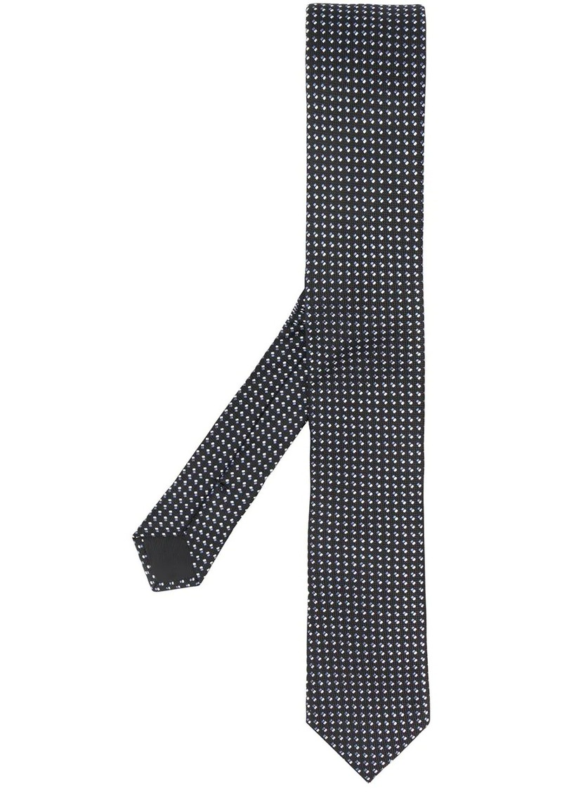 Hugo Boss embroidered silk tie
