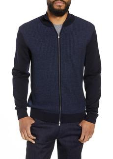Hugo Boss Emondo Regular Fit Wool Zip Sweater