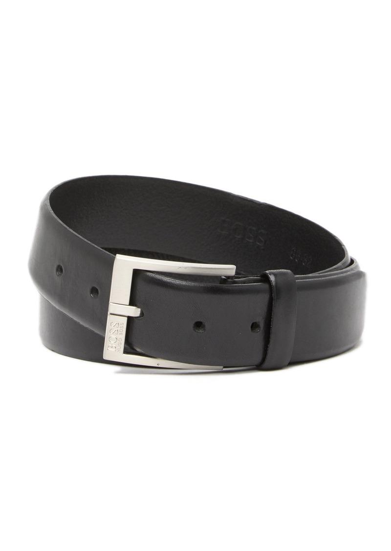 Hugo Boss Erron Leather Buckle Belt