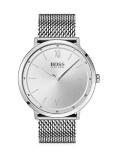 Hugo Boss Essential Ultra Slim Silvertone Mesh Bracelet Watch