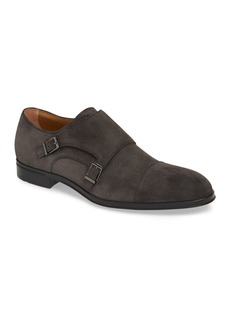 Hugo Boss Eton Suede Monk Strap Dress Shoe