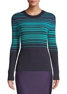 Hugo Boss Fadeira Stretch Stripe Knit Sweater