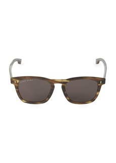 Hugo Boss Faux Tortoiseshell 51MM Square Sunglasses