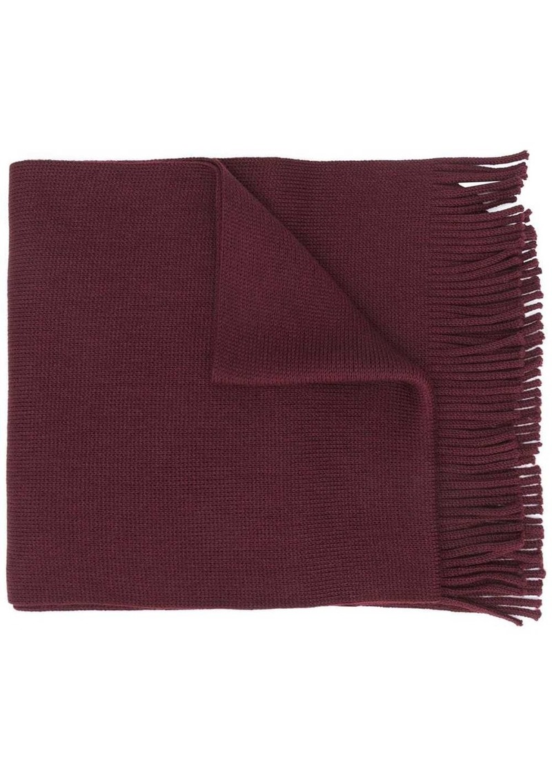 Hugo Boss fringed hem scarf