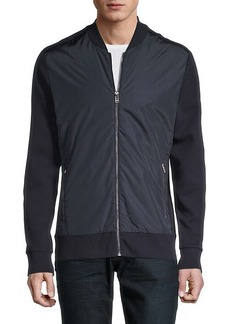 Hugo Boss Front-Zip Cotton Bomber Jacket