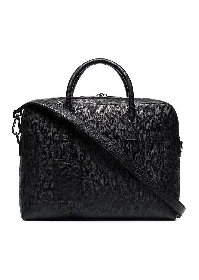 Hugo Boss Gallery pebbled briefcase