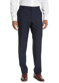 Hugo Boss Genesis Dark Blue Check Slim Fit Suit Separates Trousers