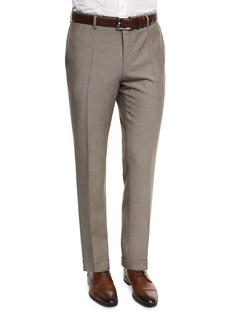 Hugo Boss Genesis Slim-Fit Wool Trousers  Tan