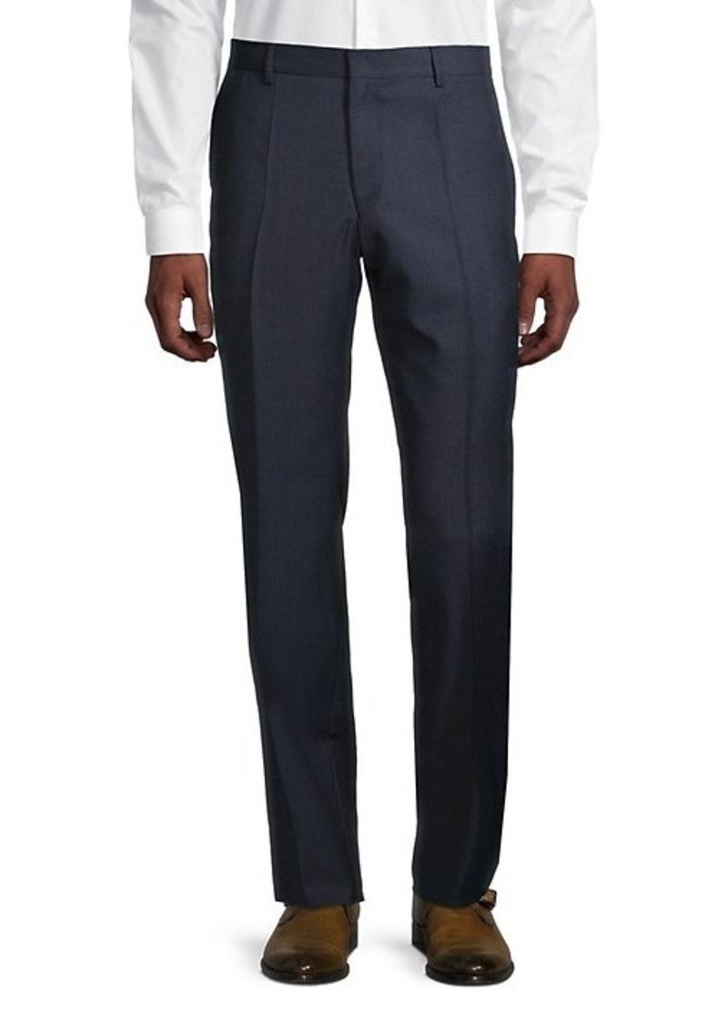 Hugo Boss Genius5 Flat-Front Linen Pants