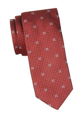 Hugo Boss Geometric Skinny Silk Tie