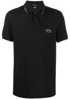Hugo Boss gold tipped polo shirt