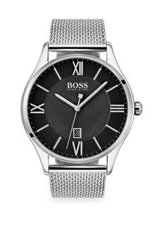 Hugo Boss Governor Stainless Steel Mesh Bracelet Watch