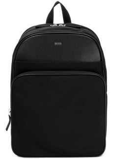 Hugo Boss grained backpack