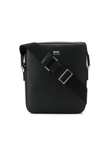 Hugo Boss grained leather messenger bag